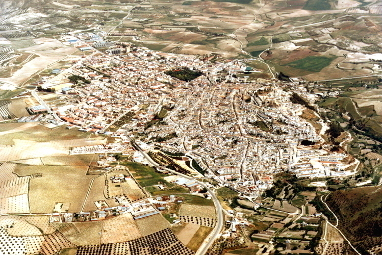 Baena from above. Andalucia Cordoba