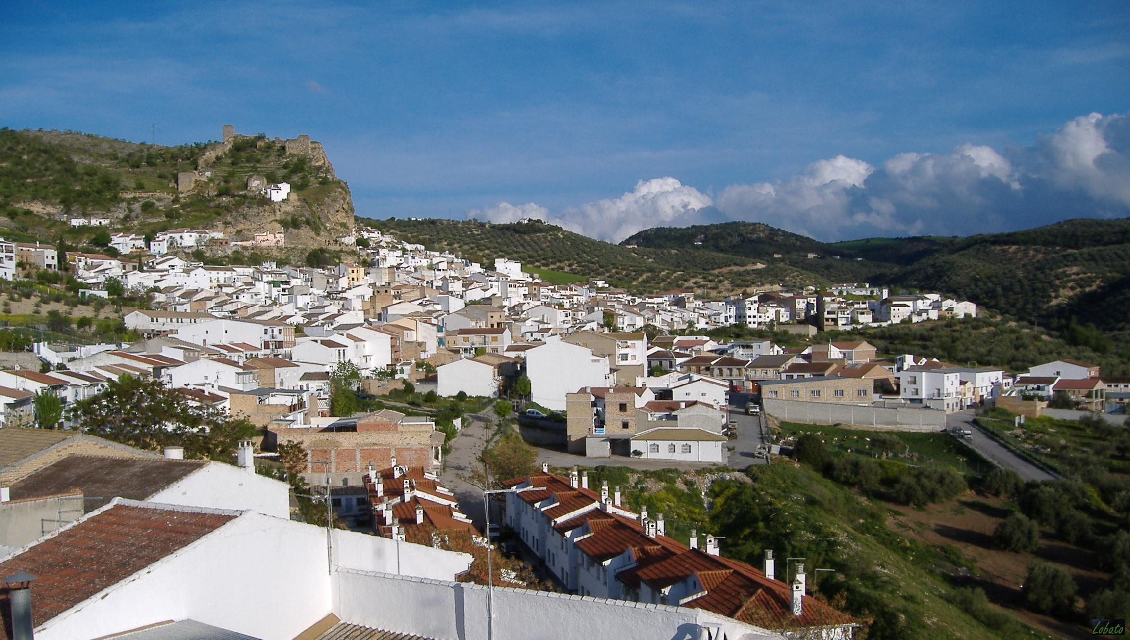 Zagra views of the town Granada Andalucia
